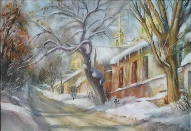 ВВоронеже открывается индивидуальная выставка Александра Ечеина «Снежная акварель»